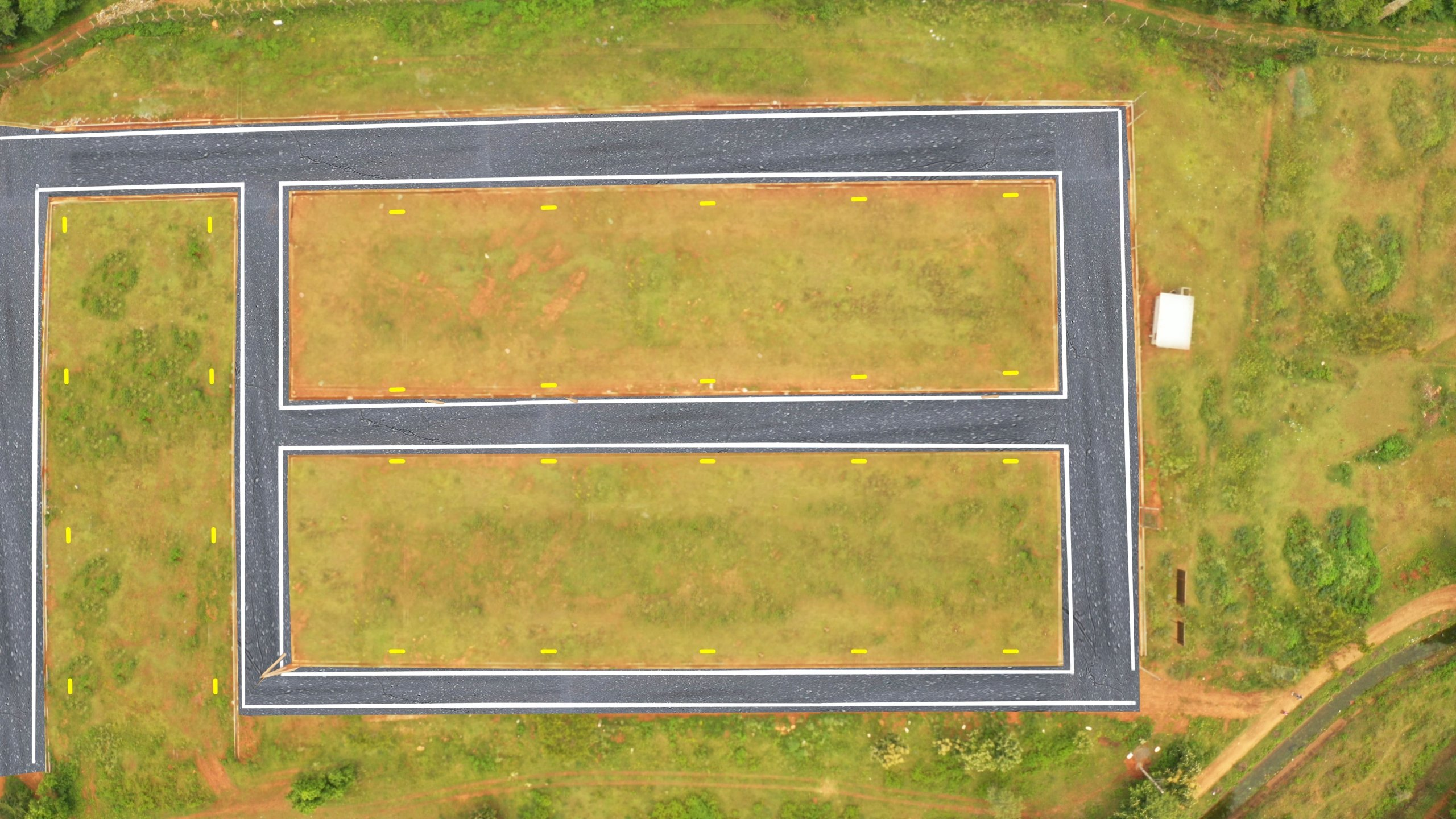 Aerial View Herbal Nature Plots For Sale In Mysore By GSS Projects