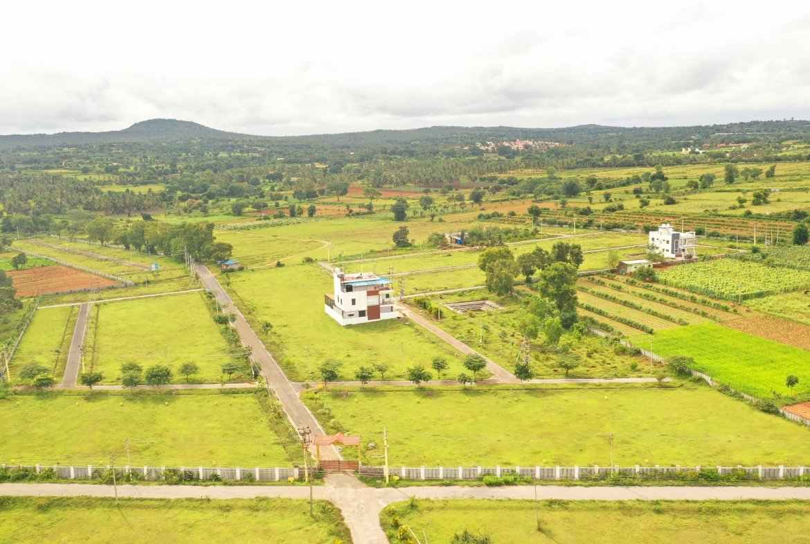 Herbal Village Phase III Aerial View - Plots For Sale By GSS Projects Mysore