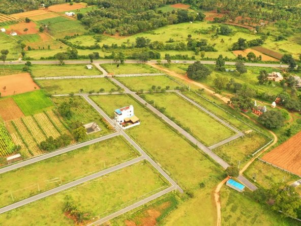 Herbal Village Phase III By GSS Projects Mysore Aerial View