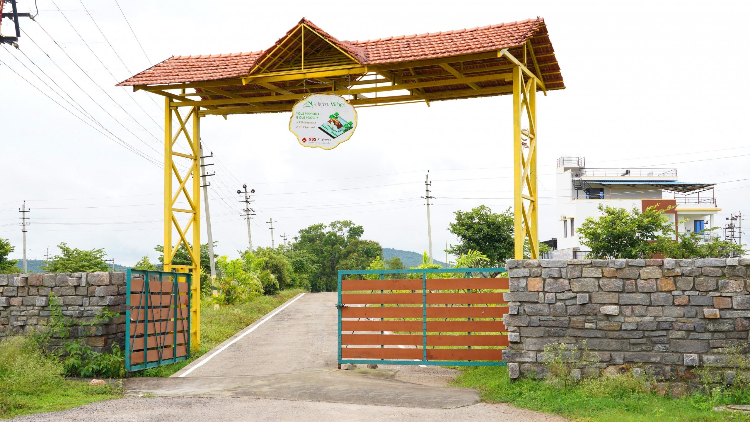 Herbal Village Phase III Entrance By GSS Projects Mysore