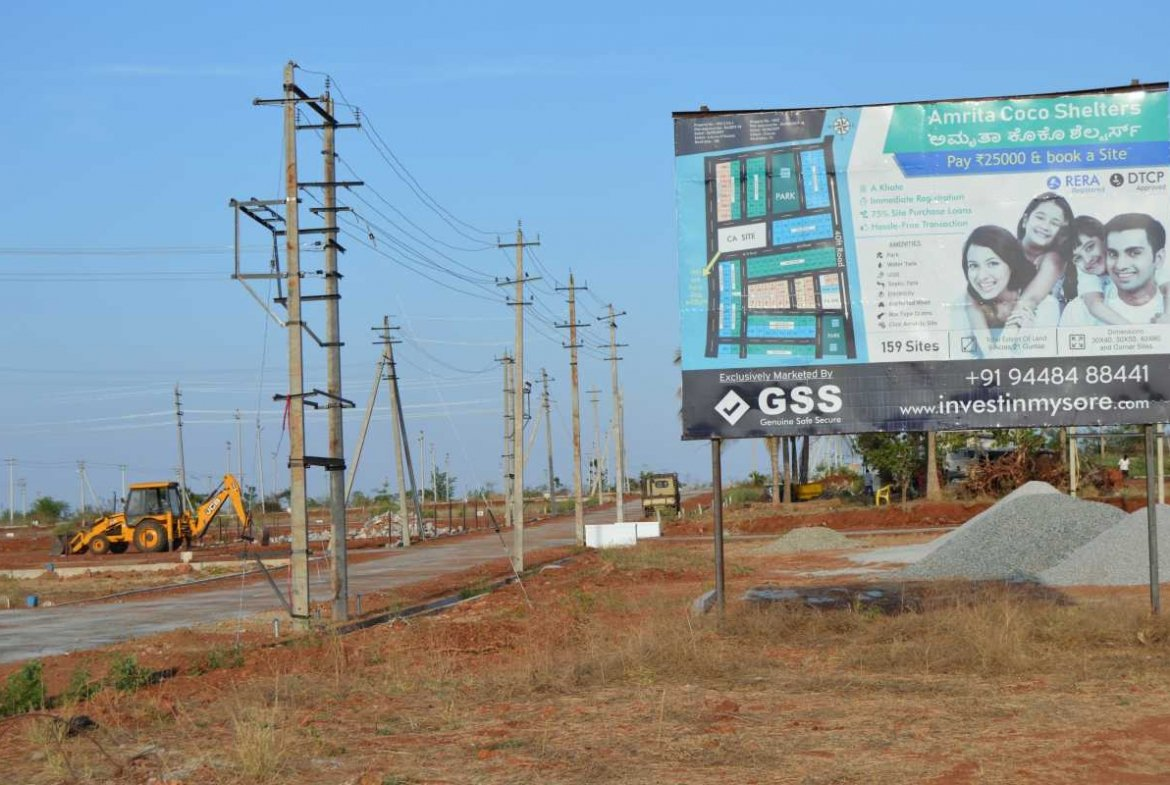 DTCP Approved Amrita Coco Shelters Phase I Sites For Sale In Mysore by GSS Projects