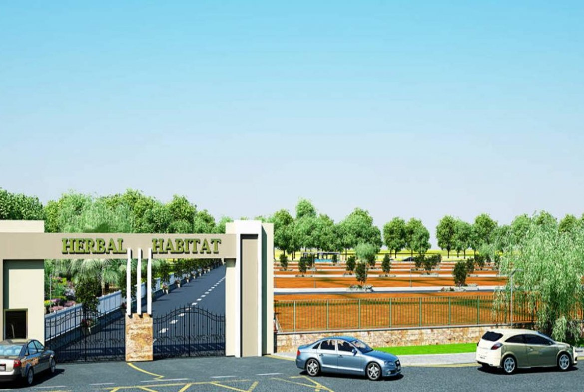 Herbal Habitat Entrance Arch 3D View- GSS Projects Mysore