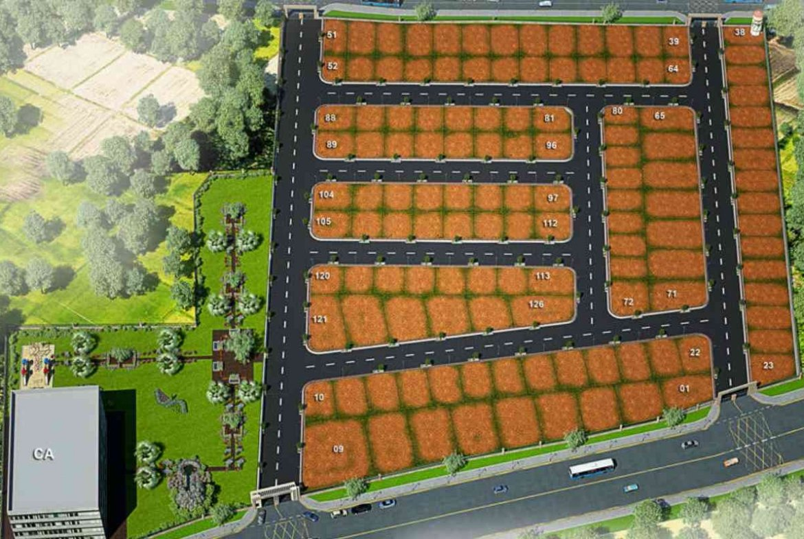 Herbal Habitat Aerial 3D View - GSS Projects Mysore