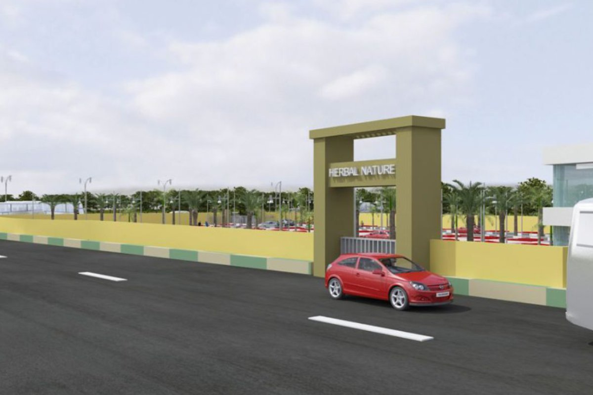 Herbal Nature Entrance 3D View By GSS Projects Mysore