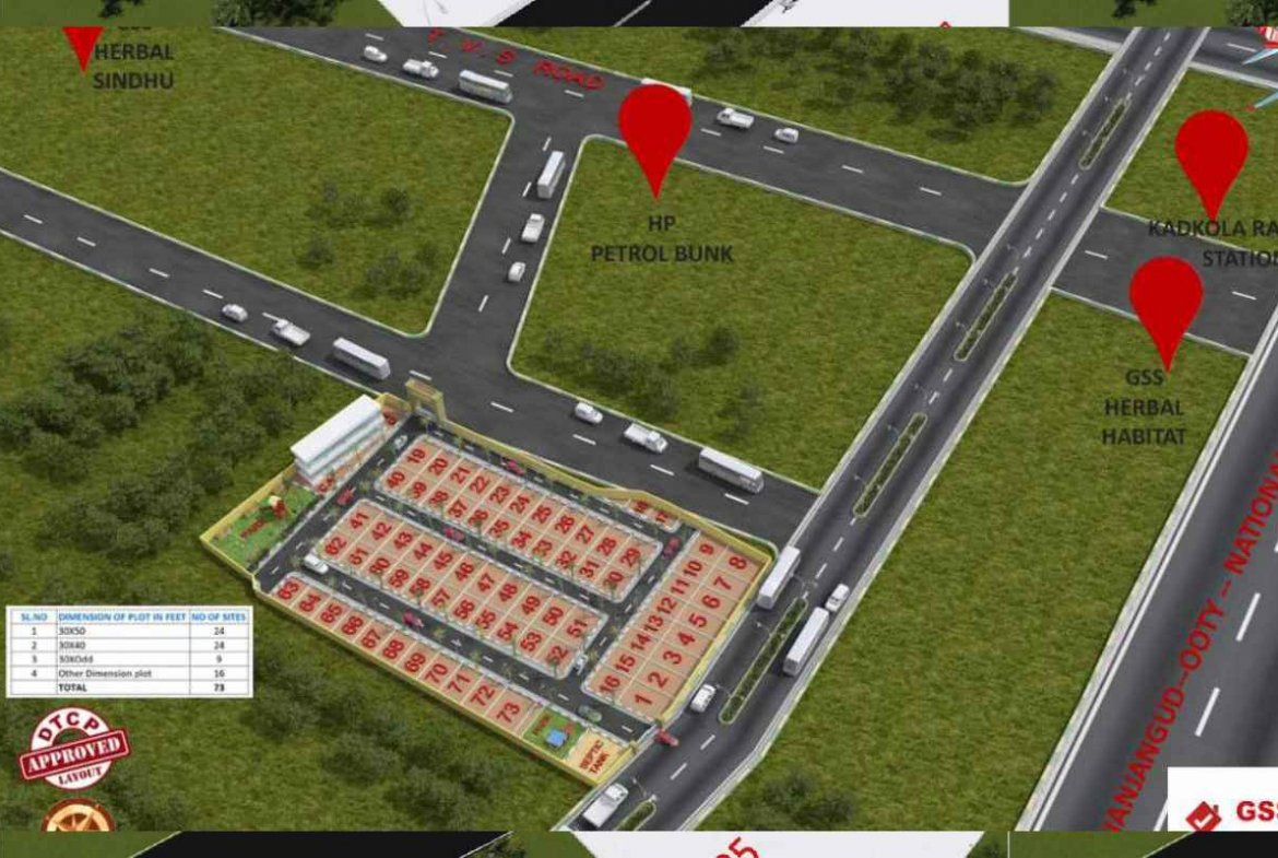 Herbal Nature Neighborhood 3D View By GSS Projects Mysore