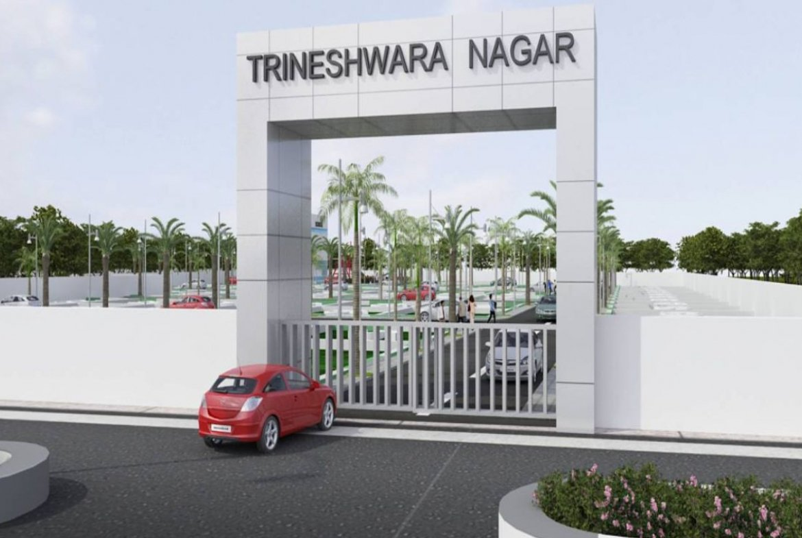 Trineshwara Nagar Entrance 3D View - Real Estate Development Project Brought To You By GSS Projects Mysore