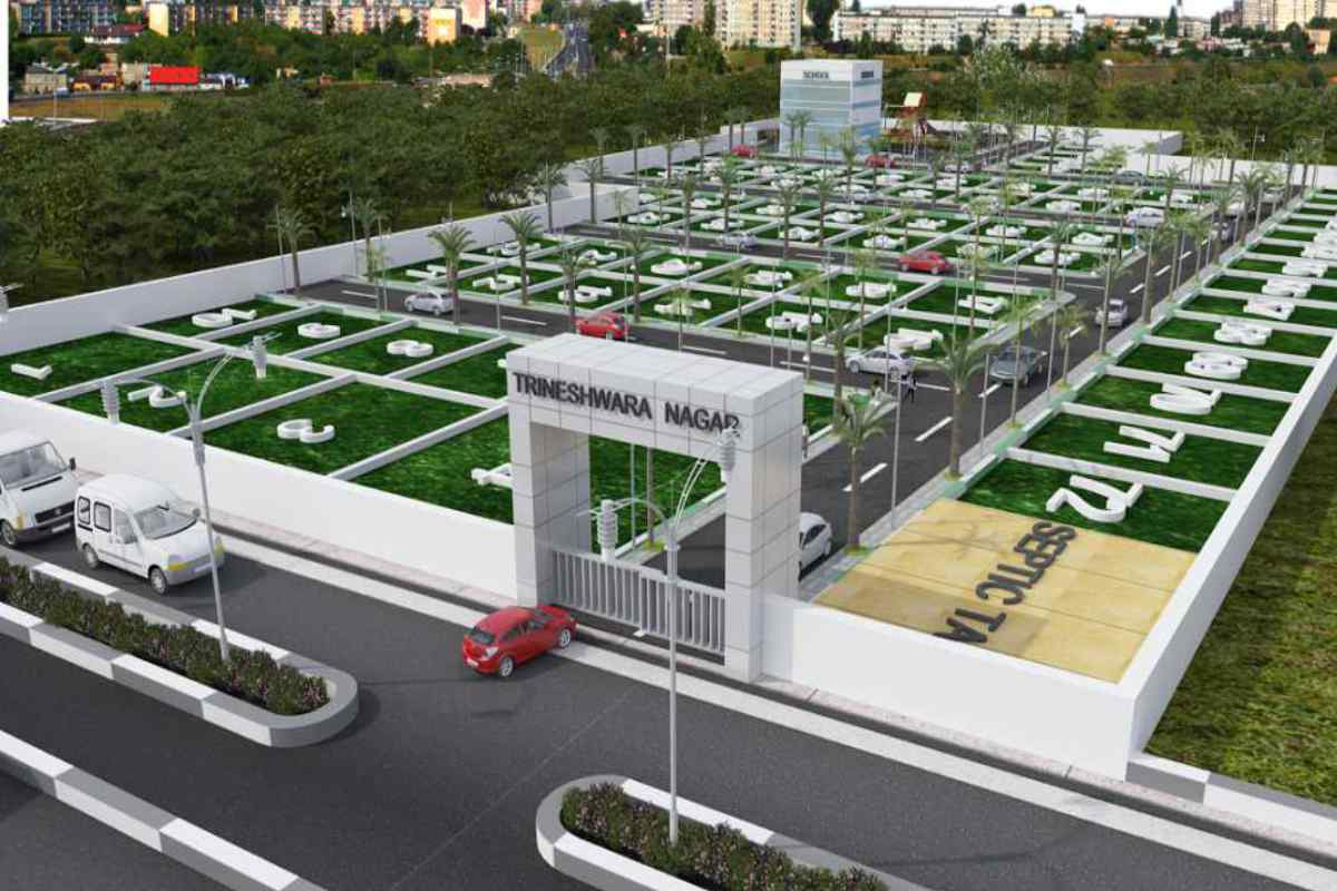 Trineshwara Nagara 3D View By GSS Projects Mysore