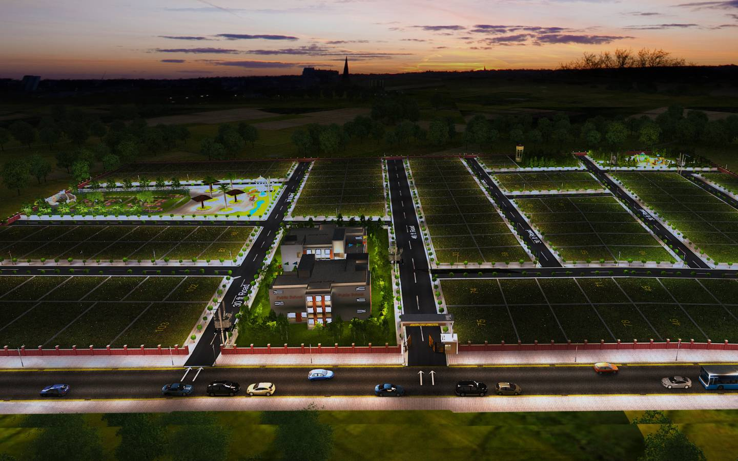 Aerial View - GSS Projects Mysore