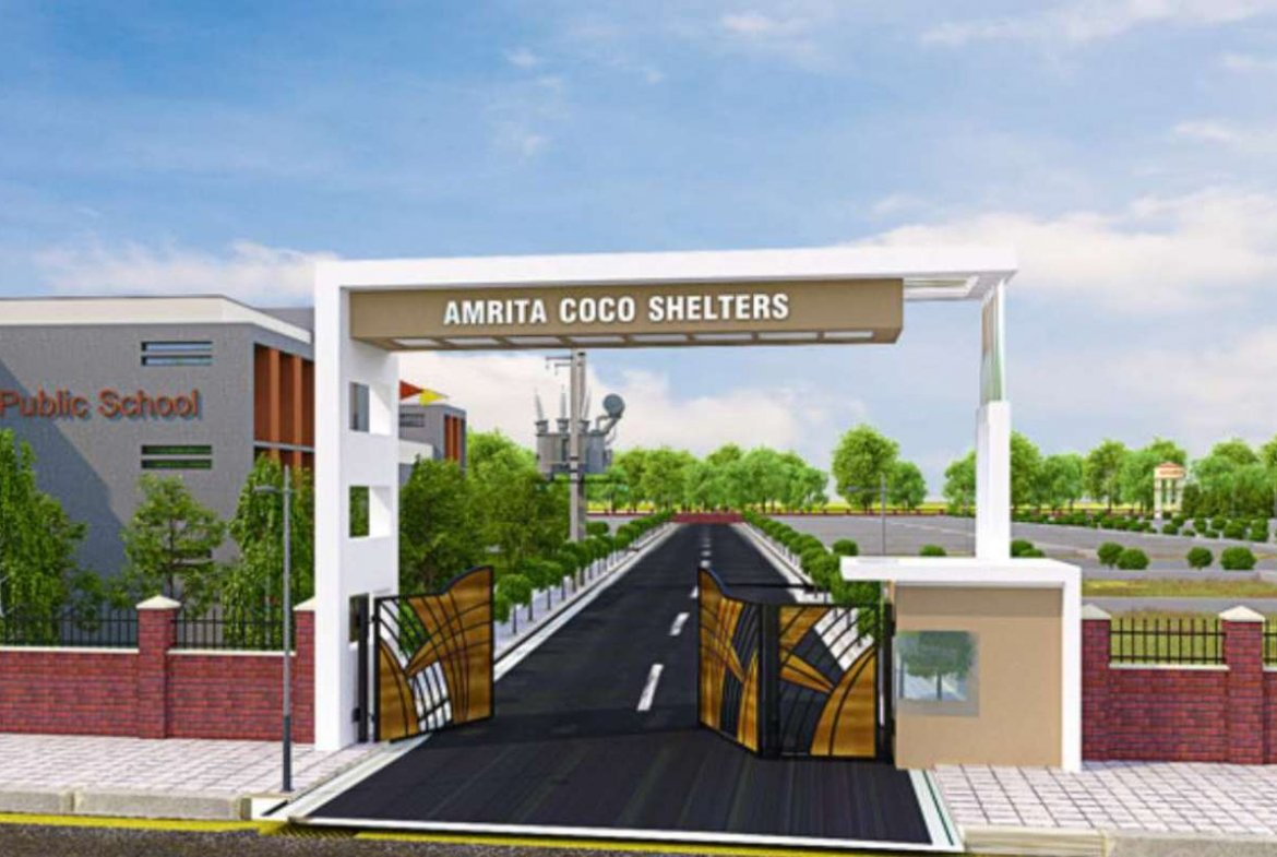 Amrita Coco Shelters Entrance 3D View- By GSS Projects