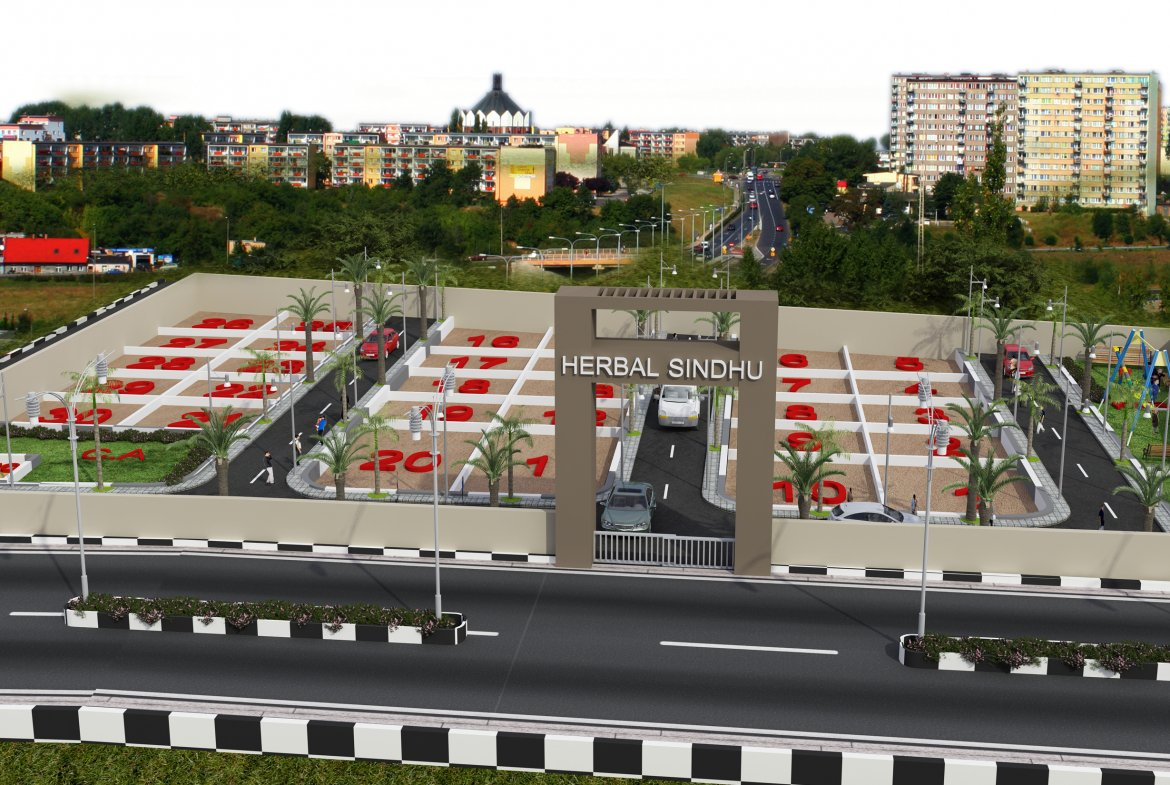 Herbal Sindhu 3D View-Sites in Mysore By GSS Projects