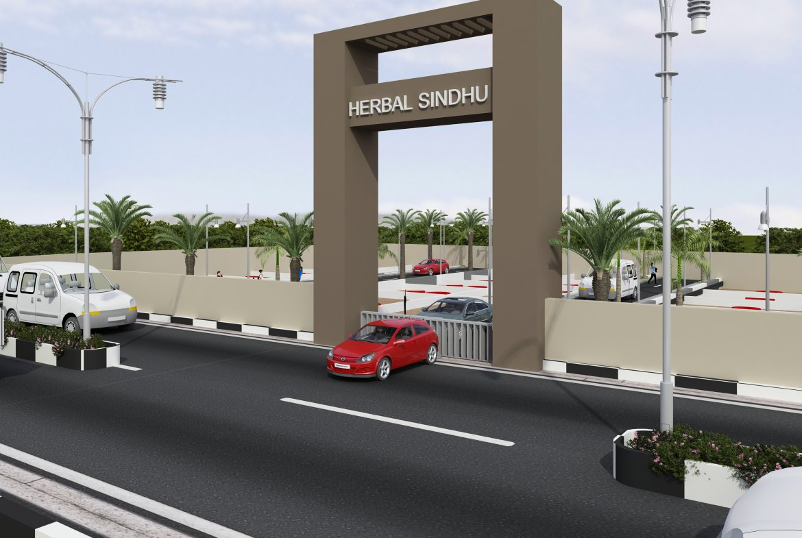 Herbal Sindhu Welcome Arch 3D View Developed By GSS Projects