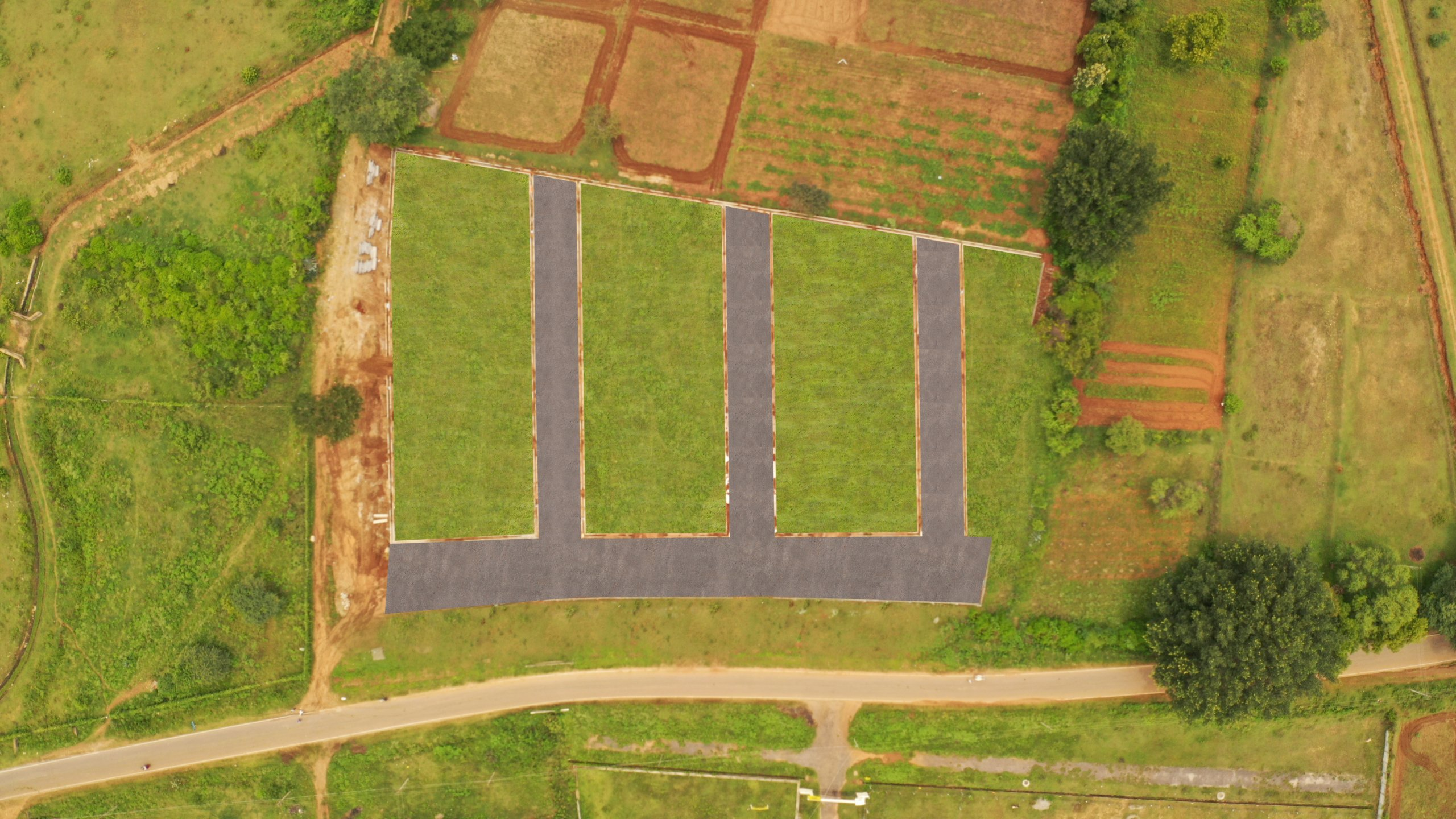 Herbal Sindhu Aerial View- Amenities Provided Well Connected Roads, Parks, UGD, Electricity Connection And Water Connection
